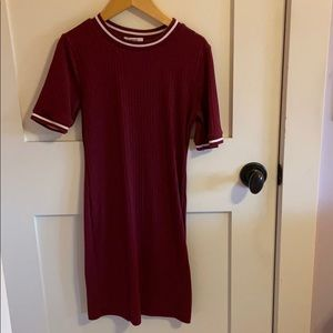BDG maroon ribbed Body con dress